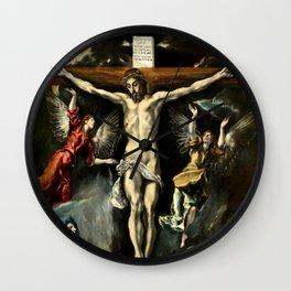 """El Greco (Domenikos Theotokopoulos) """"The Crucifixion"""" Wall Clock"""