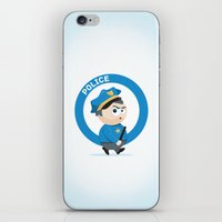 police iPhone & iPod Skins featuring Police by Emir Simsek