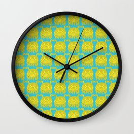 Yellow Monsters Wall Clock