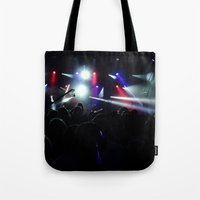 concert Tote Bags featuring CONCERT by Eclectic House Of Art