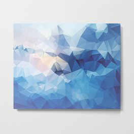 Iceberg Polygon Art Metal Print