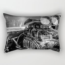 Black and white chrome blower motor Rectangular Pillow