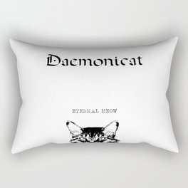 CAT METAL : Daemonicat - Eternal Meow Rectangular Pillow