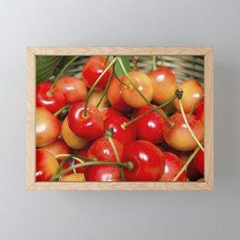 Cherries in a Basket Close Up Framed Mini Art Print