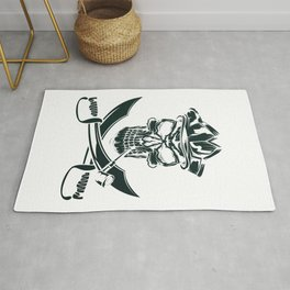 Pirate with Pipe Rug