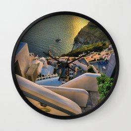 Santorini 1 Wall Clock