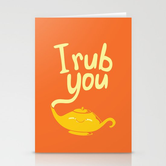 I rub you Stationery Cards