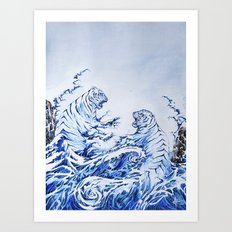 The Crashing Waves Art Print