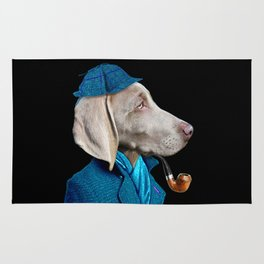 Dog Sherlock Holmes Rug