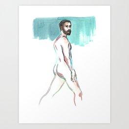 SCOTT, Nude Male by Frank-Joseph Art Print