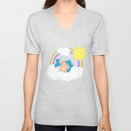 g1 my little pony waterfall Unisex V-Neck