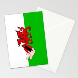 Wales Rugby Flag Stationery Cards