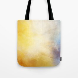 Orange and Yellow Abstract Painting Morning Glow Tote Bag