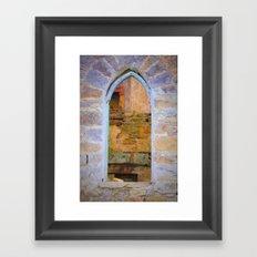 Window in Ruins Framed Art Print