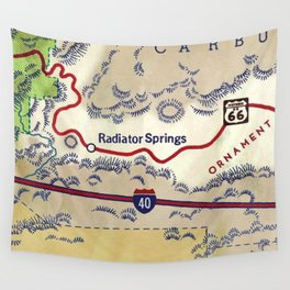 map radiator springs Wall Tapestry