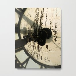 Clock Face, North Adams Metal Print