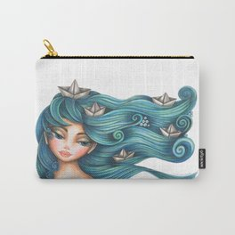 Hair Waves and Paper Boats Carry-All Pouch