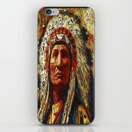 weathered chief iPhone Skin