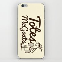 totes iPhone & iPod Skins featuring Totes McGoats by Scoggz