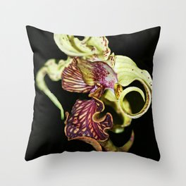 Dendrobium Spectible (The Alien Orchid) Throw Pillow