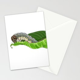 The Smol Hungry Caterpillar (Armyworm) Stationery Cards