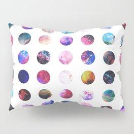 Rainbow Nebula Galaxy Girly Polka Dots Pattern Pillow Sham