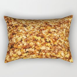 Gold yellow fall maple leaves Rectangular Pillow