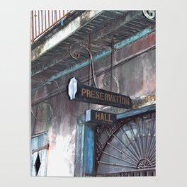 A Music Haven: Preservation Hall Poster