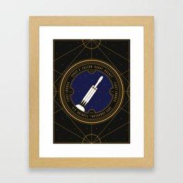 Falcon Heavy Framed Art Print