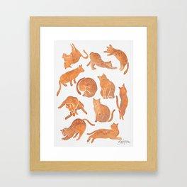 Cat Poses Framed Art Print
