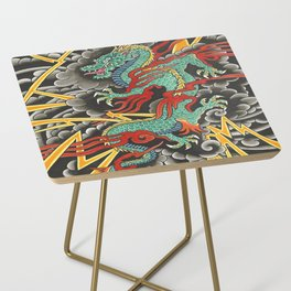 Japanese Dragon Tattoo Art Side Table