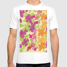Summer Floral Mens Fitted Tee MEDIUM White