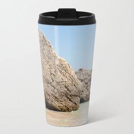 Rock from the beach of Arrabida, Setubal, Portugal. Travel Mug