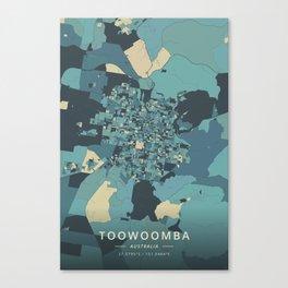 Toowoomba, Australia - Cream Blue Canvas Print