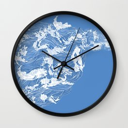 Thief of the waves Wall Clock