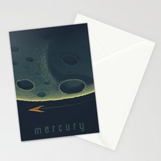 MERCURY Space Tourism Travel Poster Stationery Cards