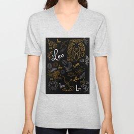 Leo Zodiac Sign Design - Leo Design Unisex V-Neck