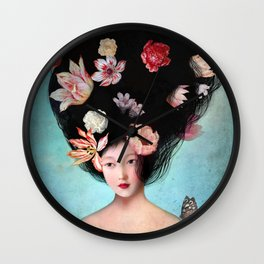 The Botanist's Daughter Wall Clock