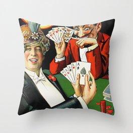 Carter The Great Magician Poster Throw Pillow