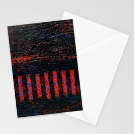 Barbed Wire (Black Abstract) Stationery Cards