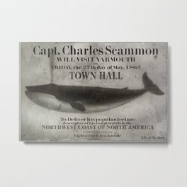 Blue Whale - Scammon Lecture Bulletin Metal Print