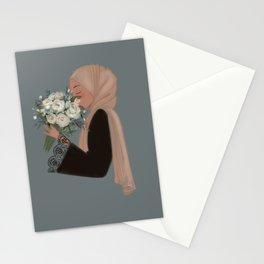 Hijab Flowers Stationery Cards