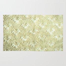 Lace knitting detail Rug
