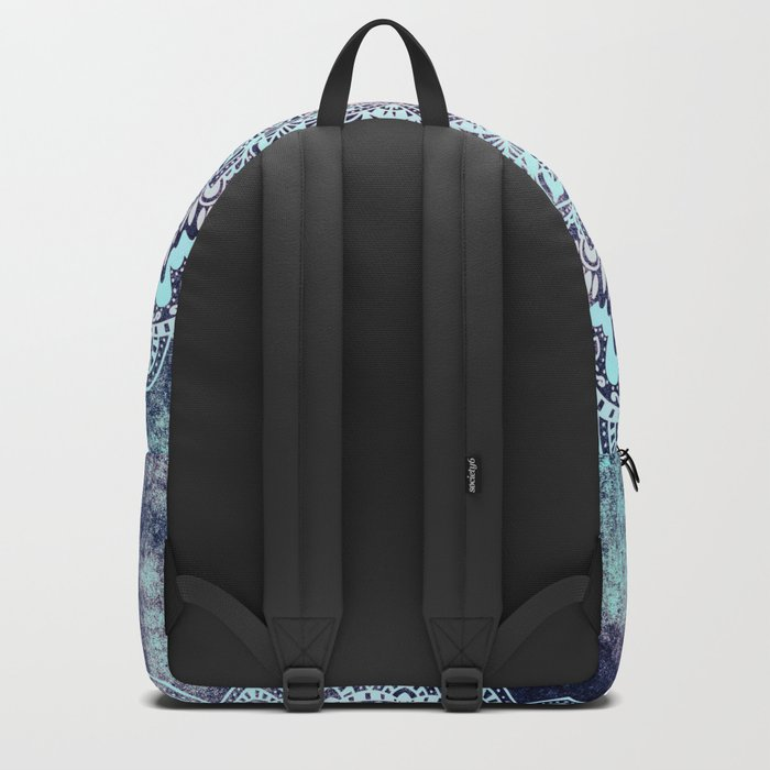 BLUE AUTUMN BOHO MANDALA Backpack