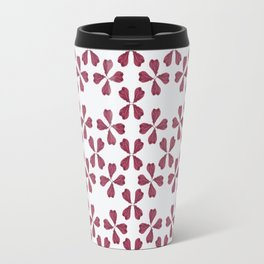 Feather Fan pattern -bordeux Travel Mug
