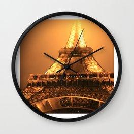 Paris - La Tour Eiffel (Nuit) Wall Clock