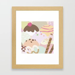 ice cream Framed Art Print