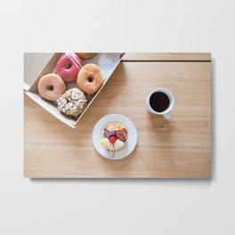 Donuts & Coffee Metal Print