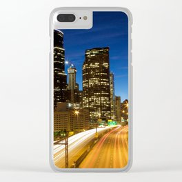 Amazing Seattle Night Clear iPhone Case