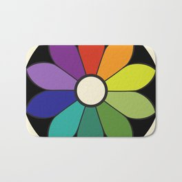 James Ward's Chromatic Circle (interpretation) Bath Mat
